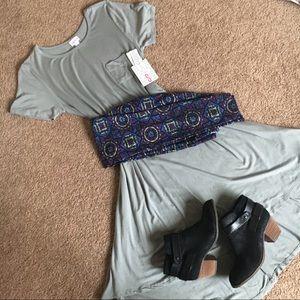 Bundle Gray Carly and Printed Leggings